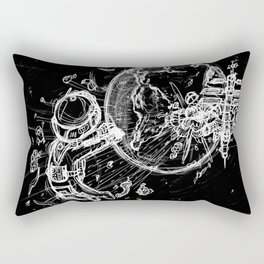 Lonely Space Cruise Rectangular Pillow