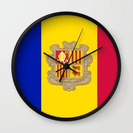 flag of Andorra 2 Wall Clock