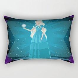 pleiadian alien woman Rectangular Pillow
