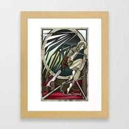 The White Croc Framed Art Print