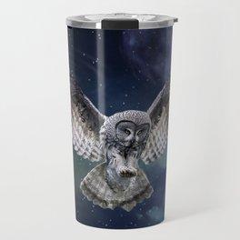 Owl in Flight Travel Mug