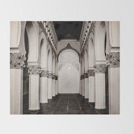 The Historic Arches in the Synagogue of Santa María la Blanca, Toledo Spain (4) Throw Blanket