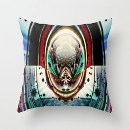 Psychedelic Pinball Throw Pillow