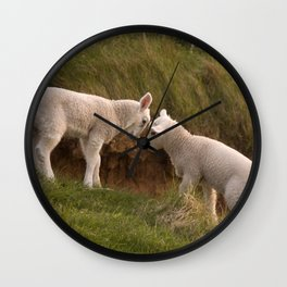 Two little lambs Wall Clock