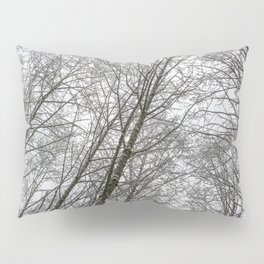 Snow Mountain Winter Forest VI - Nature Photography Pillow Sham