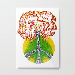 Peace Tree Metal Print