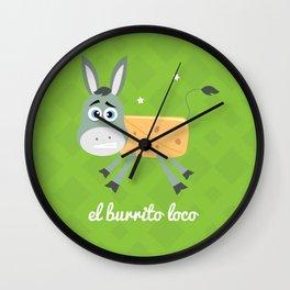El Burrito Loco illustration Wall Clock