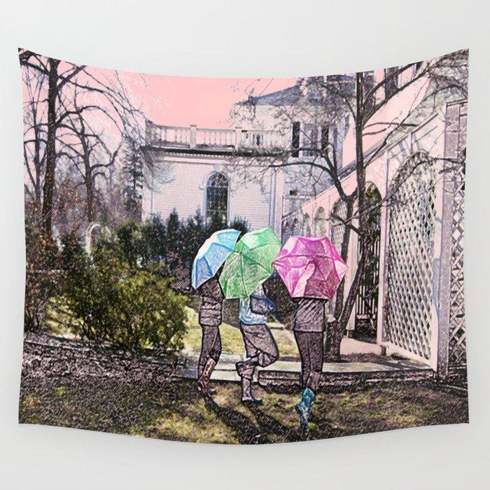 3 Umbrella's! Wall Tapestry