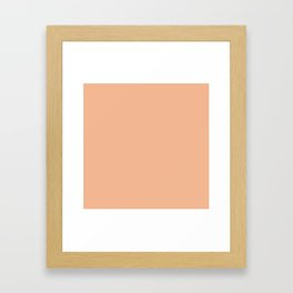 peach quartz Framed Art Print