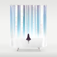 birch Shower Curtains featuring Birch by Scott Uminga