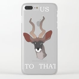 KUDUS TO THAT Clear iPhone Case