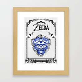 Zelda legend - Hylian shield Framed Art Print