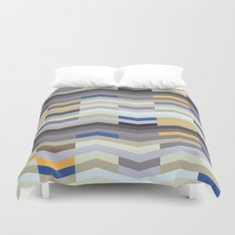 Modern Chevron - Peek O' Blue Duvet Cover