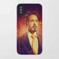 tony stark iPhone & iPod Cases featuring Tony Stark - Iron Man by KanaHyde