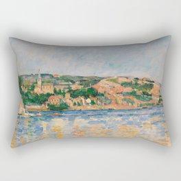Paul Cézanne - Village at the Water's Edge Rectangular Pillow