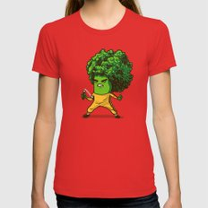 Brocco Lee SMALL Womens Fitted Tee Red