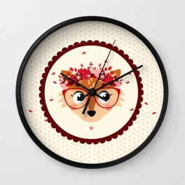 Tête de renarde Wall Clock