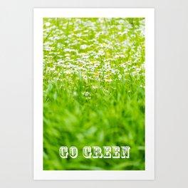Blossom Valley: Go Green Art Print