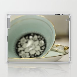 Blue Flowered Teacup Laptop & iPad Skin