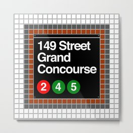subway grand concourse sign Metal Print