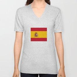 Flag of spain-spain,flag,flag of spain,espana,spanish,espanol,Castellano,Madrid,Barcelona, Unisex V-Neck