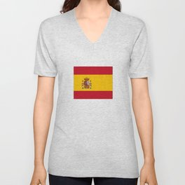 Flag of spain-spain,flag,flag of spain,espana,spanish,espanol,Castellano,Madrid,Barcelona, Unisex V-Neck