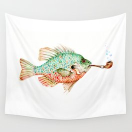 River Sunfish with a Pipe Wall Tapestry