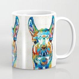 Colorful Llama Art - The Prince - By Sharon Cummings Coffee Mug