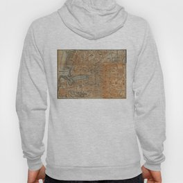 Vintage Map of Marseille France (1914) Hoody