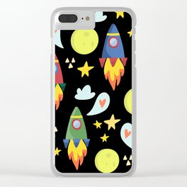 Rocket Ships Clear iPhone Case