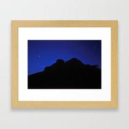 moon night, Jaisalmer, Rajasthan, India Framed Art Print
