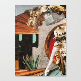 ballerina - collage Canvas Print