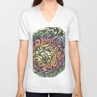 aztec V-neck T-shirts featuring Aztec  by Kate Allison