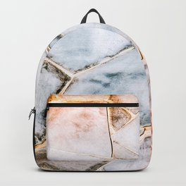 Stone wall texture Backpack