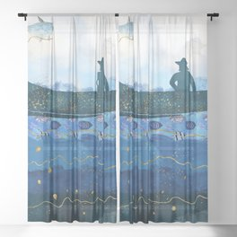 The Fisherman's Dream #2 Sheer Curtain