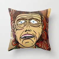 danny ivan Throw Pillows featuring Ivan by Patty Hogan