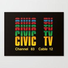 CIVIC TV Canvas Print