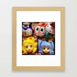 Anime Masks Framed Art Print