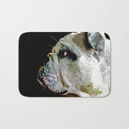 english bulldog dog vector art Bath Mat