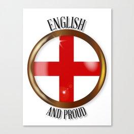 English Proud Flag Button Canvas Print