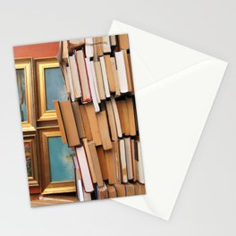 A pile of second hand books Stationery Cards
