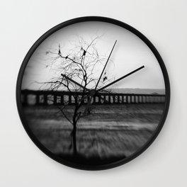 severn Crossing Lensbaby 03 - Severn Beach Wall Clock