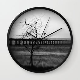 severn Crossing Lensbaby 03 - Severn Beach Wall Clock