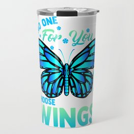 Cute Choose To Use Your Wings Butterfly Motivation Travel Mug
