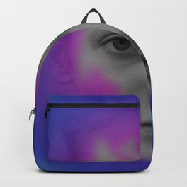 Pink and blue portrait Backpack