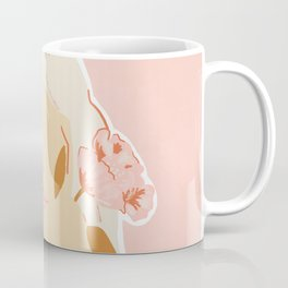 Girl and her Flower Coffee Mug