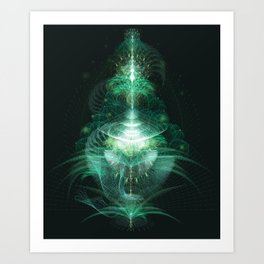 Digital Botanics Art Print