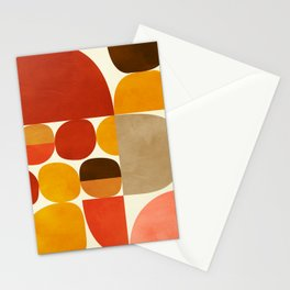 mid century geometry abstract 5 Stationery Cards