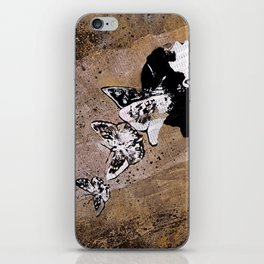 Long Gone Whisper II (street art graffiti painting, girl with butterflies) iPhone Skin
