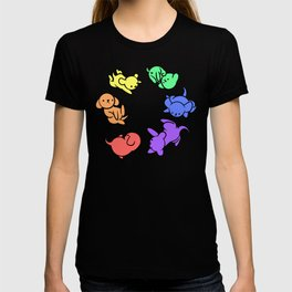 Rainbow Puppies - Loop T-shirt